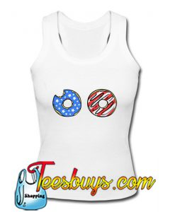 American flag clothing donut Tank Top