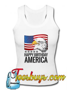 Happy Birthday America USA Flag Eagle T-Shirt