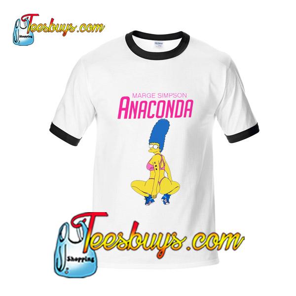 bfe7f0b5 Marge Simpson Anaconda Ringer Shirt