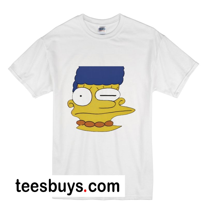 989317a0 Misprinted Marge Simpson T-Shirt - Website Name