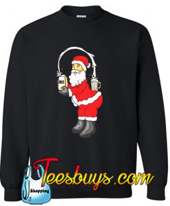 Santa loves milk Sweatshirt
