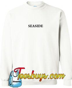 Seaside Font white Sweatshirt
