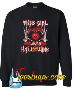This Girl Loves Hallowine Sweatshirt
