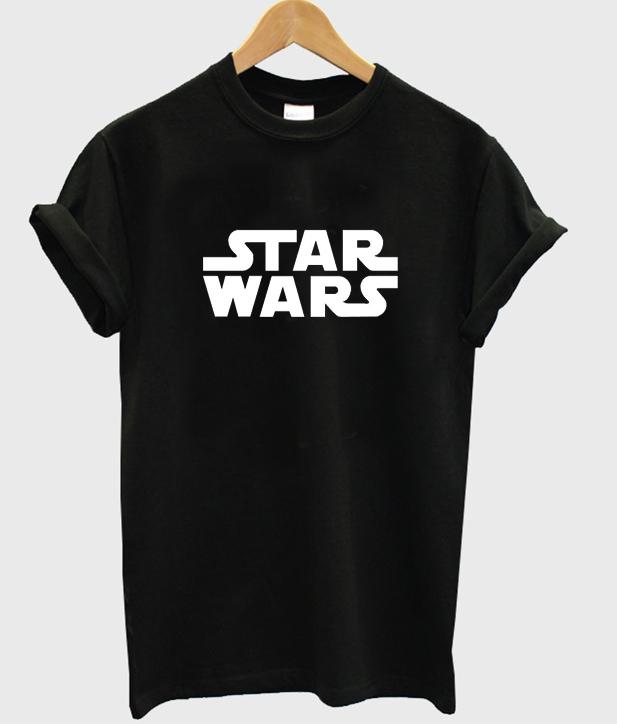 star wars font tshirt
