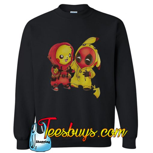 Ryan Reynolds Pikachu Deadpool Sweatshirt