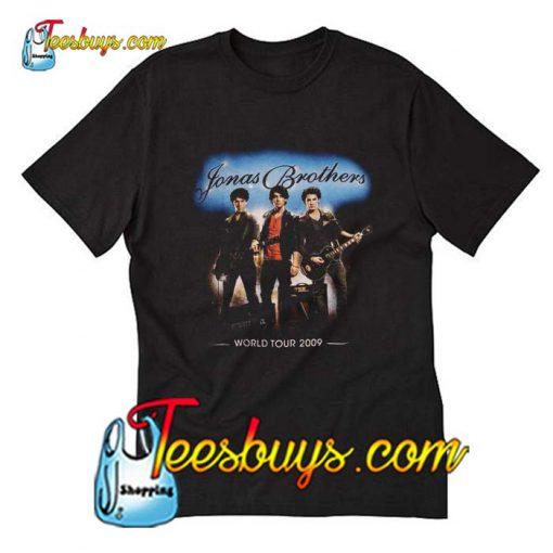 Black Jonas Brothers World Tour T-Shirt Pj