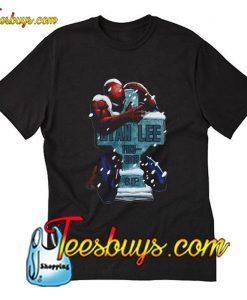 Spider Man hug Stan Lee RIP T-Shirt Pj