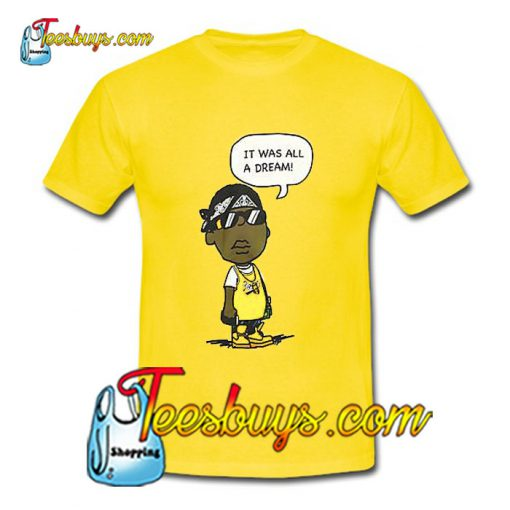 Hypnotize Biggie Smalls Dream Yellow T-Shirt Pj