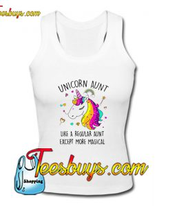 Unicorn Aunt Like A Regular Aunt Tank Top Pj
