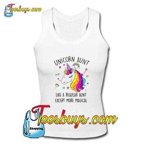 Unicorn Aunt Like A Regular Aunt Tank Top Pj