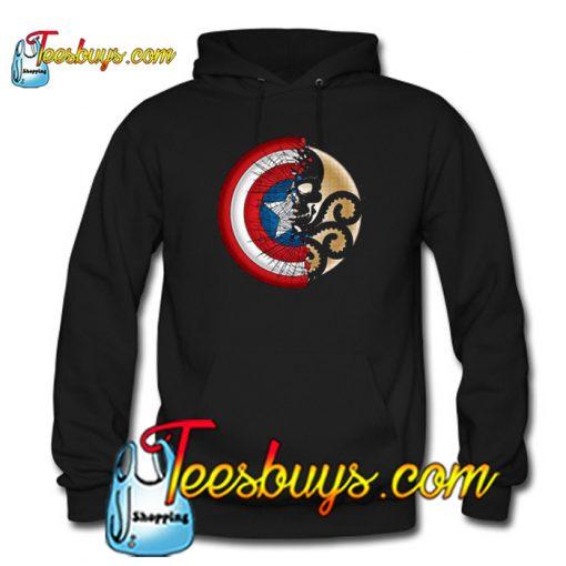 Captain America Harajuku Spider Skull Hoodie-SL
