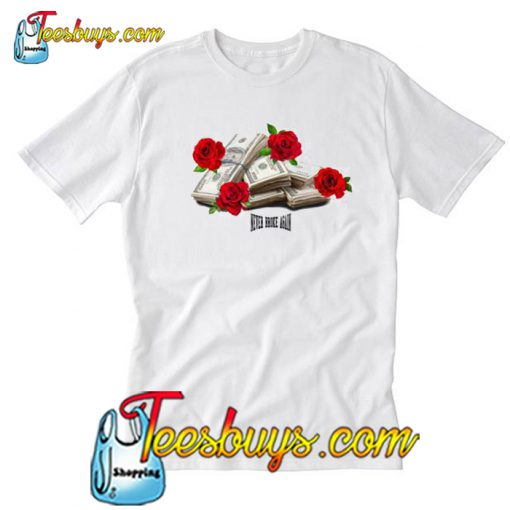 Never Broke Again Rose Stack T Shirt-SL