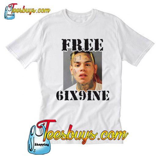 This Free Tekashi 6ix9ine Mugshot T Shirt-SL