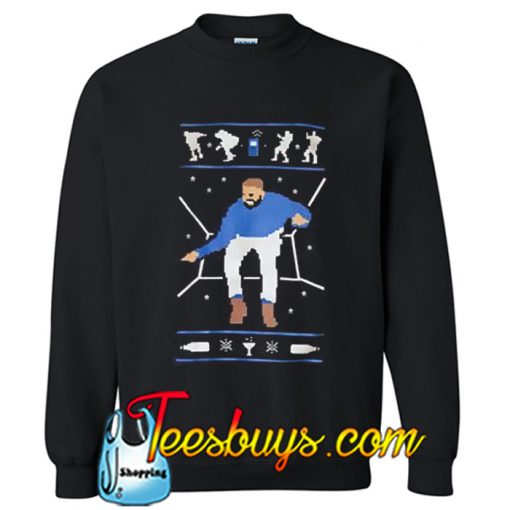1-800 Hotline Bling Ugly Christmas Drake Sweatshirt NT