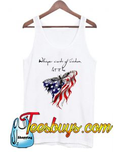 Whisper Words Of Wisdom Let It Be Dragonfly America Tank Top NT