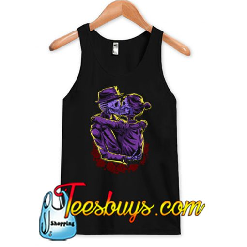 Kissing Skeletons Halloween TANK TOP SR