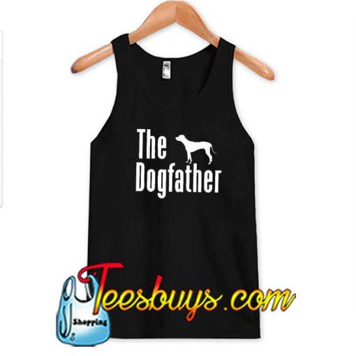 Men's The Dog Father White Print Tank Top SN