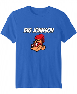 big johnson t shirt blue