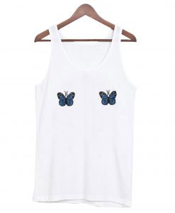 Blue Ribbed Butterfly Tank-top NT