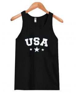 USA Star Letter Graphic Tank-top NT