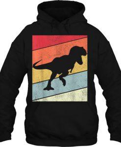 Dinosaur T-Rex Silhouette Vintage HOODIE NT