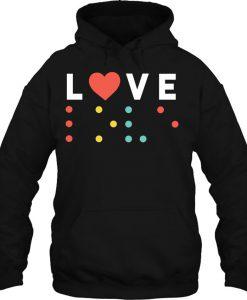 Love Written In Braille Valentine's Day HOODIE NT