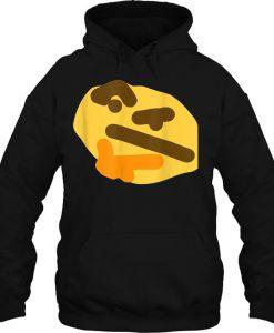 Thinking Face Emoji Slanted Face HOODIE NT