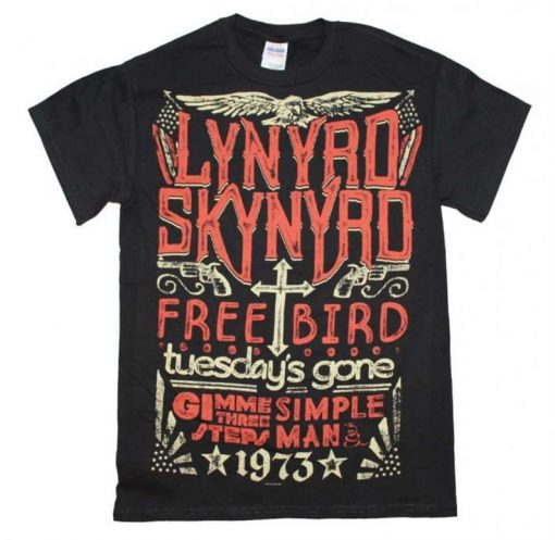 LYNYRD SKYNYRD 1973 Hits t shirt RJ22