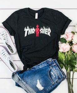 Thrasher X Girl On Fire t shirt RJ22