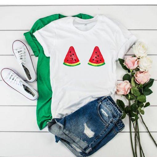 Watermelon Boobs white t shirt RJ22