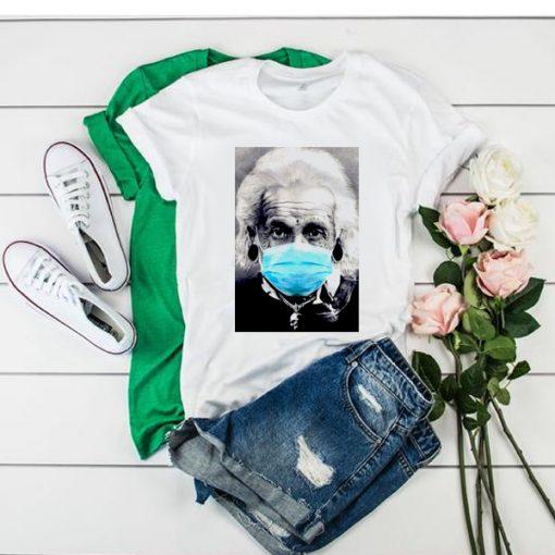 Albert Einstein Mask Face t shirt RJ22